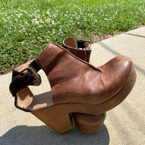 Free People Amber Orchard Cognac Leather Clogs